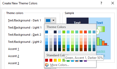 How to set background and text color accordingly