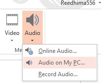 Add Audio to PowerPoint option