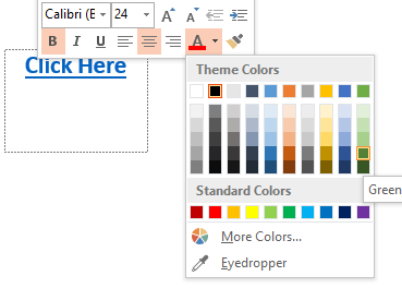 how to change the Theme Colors