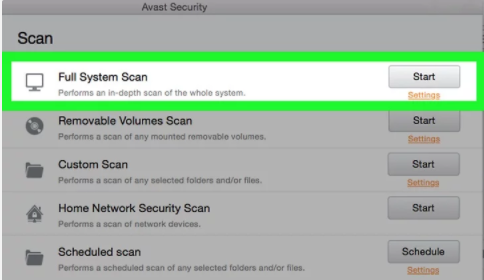 How to run avast smart scan