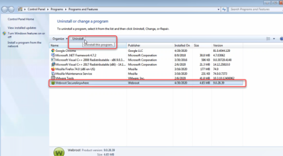How To Uninstall Webroot