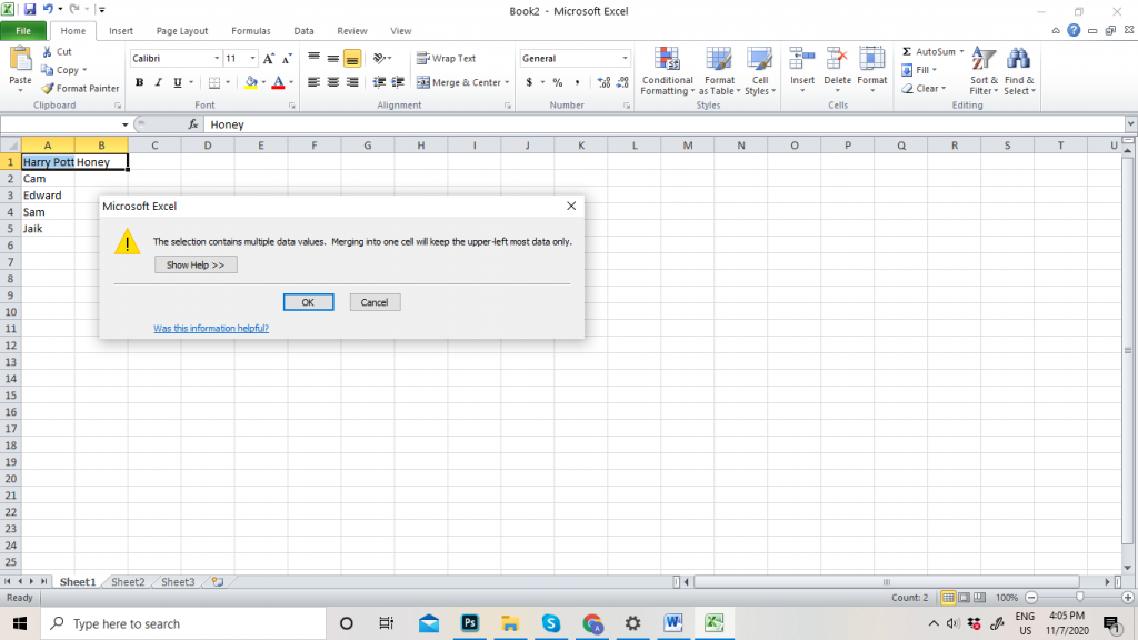 How to Merge and Unmerge Cells in Excel