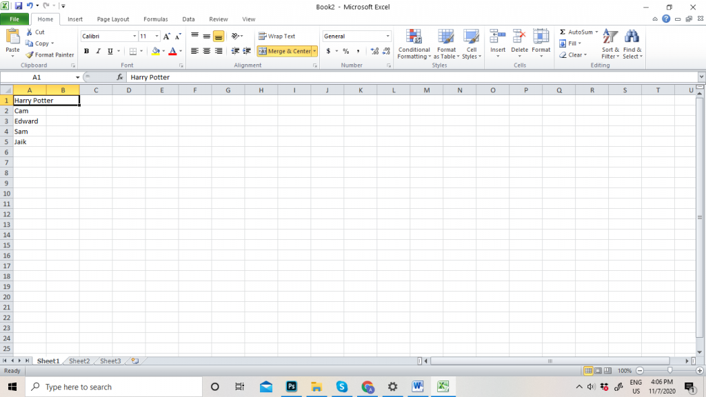 How to Merge Cells in Excel Table