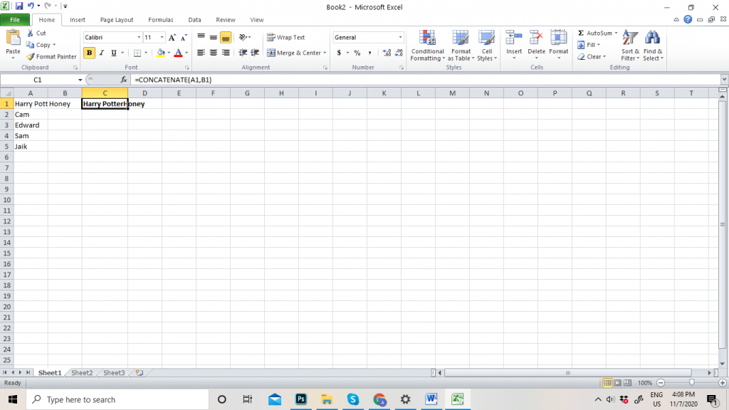 How to Merge Cell in Excel Sheet