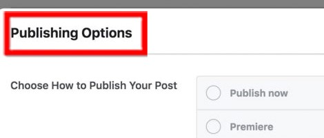 Publishing Options
