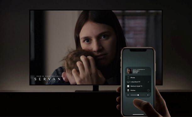 Connect to the TV with AirPlay
